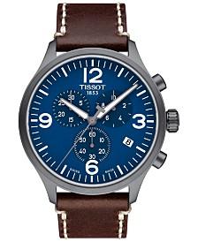 Tissot Men's Swiss Chrono XL Brown Leather Strap Watch 45mm