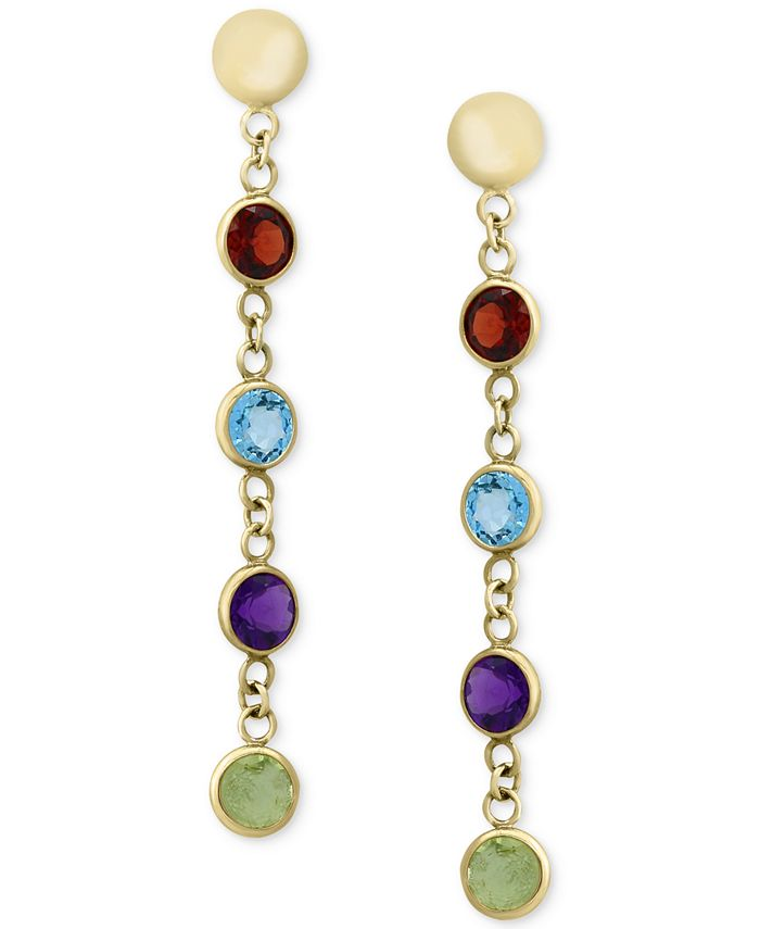 EFFY Collection - Multi-Gemstone Drop Earrings (2-1/5 ct. t.w.) in 14k Gold