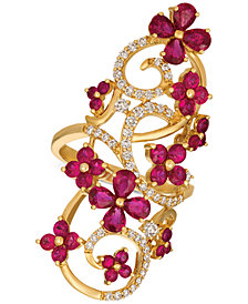 Le Vian® Certified Passion Ruby™ (2-9/10 ct. t.w.) & Diamond (1/2 ct. t.w.) Ring in 14k Gold