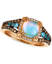 Le Vian Chocolatier® Multi-Gemstone (7/8 ct. t.w.) & Diamond (1/4 ct. t.w.) Ring in 14k Rose Gold