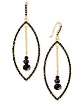 INC International Concepts Gold-Tone Stone Orbital Drop Earrings, Created for Macy's
