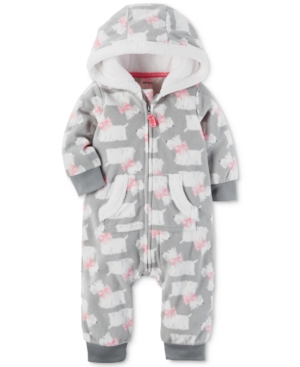 Carters 1Pc Hooded DogPrint Coverall Baby Girls (024 months)