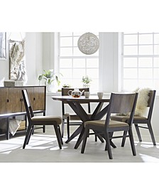 Ashton Round Pedestal Dining 5-Pc. Set (Round Pedestal Dining Table & 4 Side Chairs)
