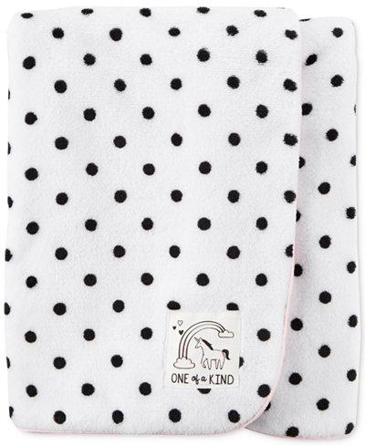 Carter's Dot-Print Plush Blanket, Baby Girls