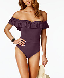 Bleu by Rod Beattie Off-The-Shoulder One-Piece Swimsuit