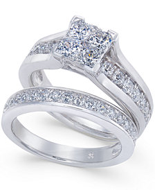 Diamond Composite Bridal Set (1-1/2 ct. t.w.) in 14k White Gold