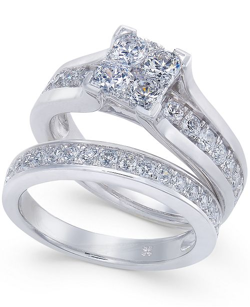Macy's Diamond Composite Bridal Set (1-1/2 ct. t.w.) in 14k White Gold or 14k Yellow Gold