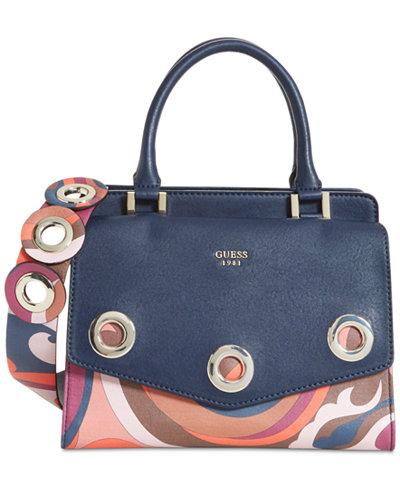 GUESS Dinah Medium Top-Handle Satchel - Satchels - Handbags ...