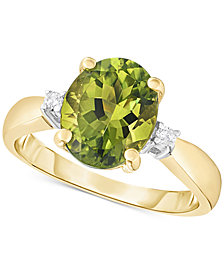 Peridot (2-1/2 ct. t.w.) & Diamond Accent Ring in 14k Gold