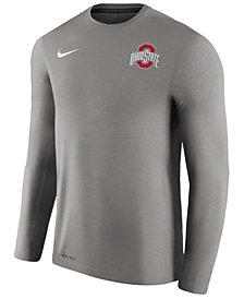 Nike Men's Ohio State Buckeyes Dri-Fit Touch Longsleeve T-Shirt