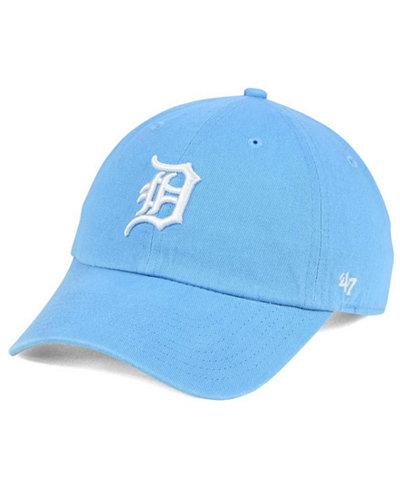 '47 Brand Women's Detroit Tigers Powder Blue/White CLEAN UP Cap
