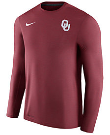 Nike Men's Oklahoma Sooners Dri-Fit Touch Longsleeve T-Shirt