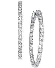 Diamond In and Out Earrings (5 ct. t.w.) in 14k White Gold