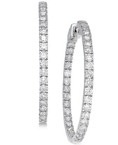 6dd3fb79e Diamond In and Out Earrings (5 ct. t.w.) in 14k White Gold