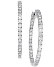 907666956 White Gold Hoop Earrings: Shop White Gold Hoop Earrings - Macy's