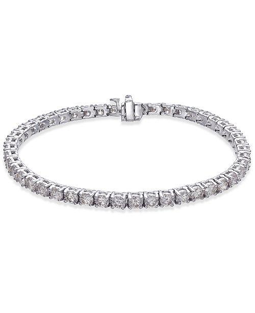 e708f68c8db Macy s Diamond Tennis Bracelet (7 ct. t.w.) in 14k White Gold ...