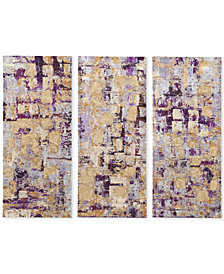 Madison Park Gilded Violet 3-Pc. Gel-Coated Canvas Print Set