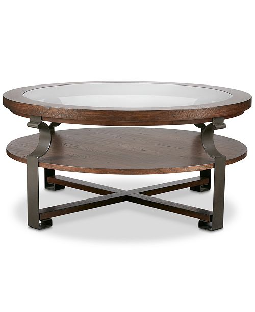 carriage & co. Emmalee Round Coffee Table, Quick Ship