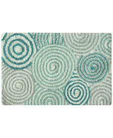 "Bacova Galaxy Cotton 20"" x 30"" Spiral Accent Rug"