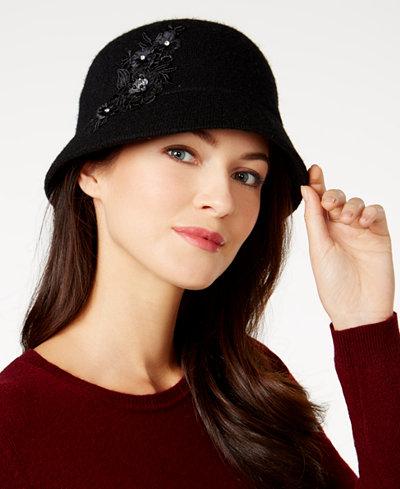 August Hats Appliqué Melton Cloche