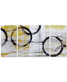 Madison Park Lunar Glow 3-Pc. Gel-Coated Canvas Print Set