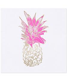 Intelligent Design Gold Pineapple Foil-Embellished Canvas Print