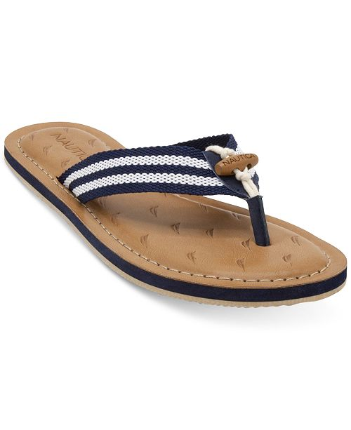 72400ed28029 Nautica Women s Slipway Flip-Flops   Reviews - Sandals   Flip Flops ...