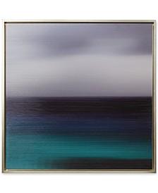 Madison Park Signature Blue Seascape Framed Gel-Coated Canvas Print