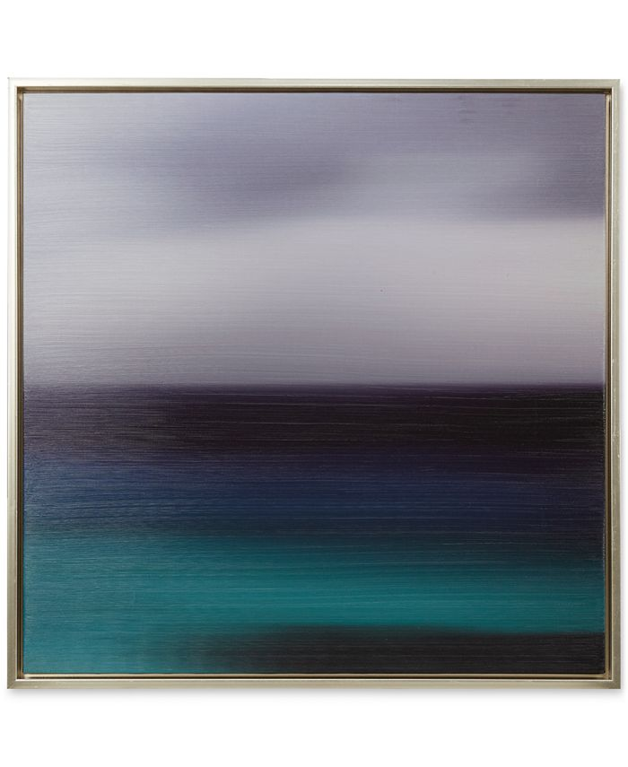 JLA Home - Signature Blue Seascape Framed Gel-Coated Canvas Print