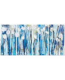 INK+IVY Ocean Breeze Blossom 4-Pc. Gel-Coated Canvas Print Set