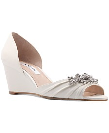 Nina Emiko Embellished Evening Wedges