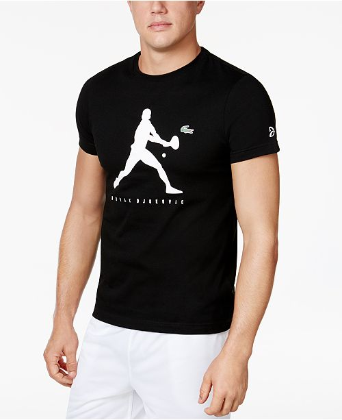 Lacoste Collection For Novak Djokovic Logo Ultra Dry Performance T Shirt Created For Macy S Reviews T Shirts Men Macy S