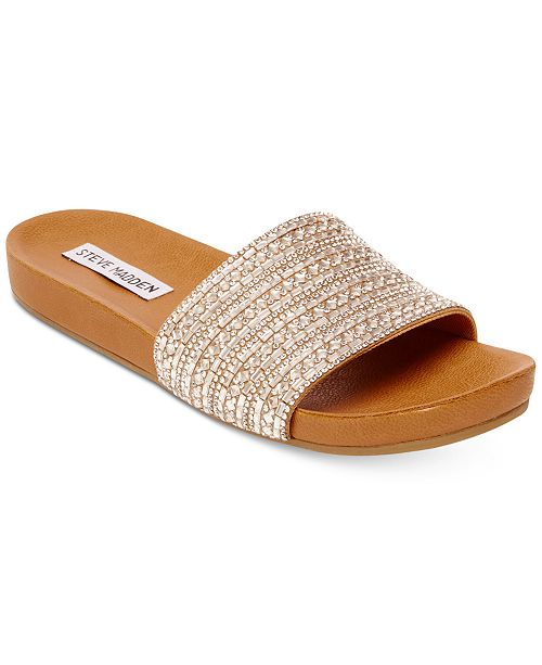 e7b44cee0fc7 Steve Madden Women s Dazzle Embellished Sandals   Reviews ...