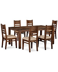 """Avondale Large Dining, 7-Pc. Set (72"""" Dining Table & 6 Side Chairs), Created for Macy's"""