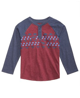 Epic Threads Graphic-Print Henley, Little Boys (4-7), Created for Macy's