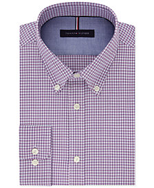 Tommy Hilfiger Men's Slim-Fit Soft Touch Non-Iron Check Dress Shirt