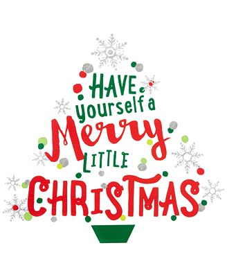 Holiday Lane Have Yourself A Merry Little Christmas Wall Decal, Created for Macy's