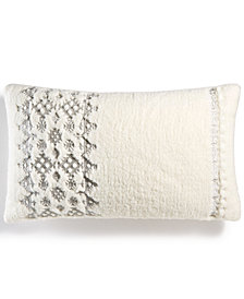 "CLOSEOUT! Martha Stewart Collection Fireside Fair Isle Fleece 14"" x 24"" Decorative Pillow, Created for Macy's"