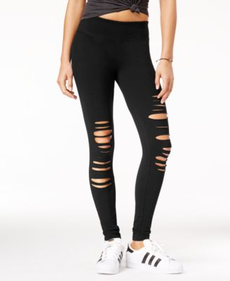 Active Juniors' Ripped Yoga Leggings, Created for Macy's