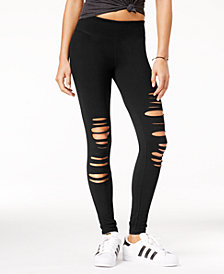 Material Girl Active Juniors' Ripped Yoga Leggings, Created for Macy's