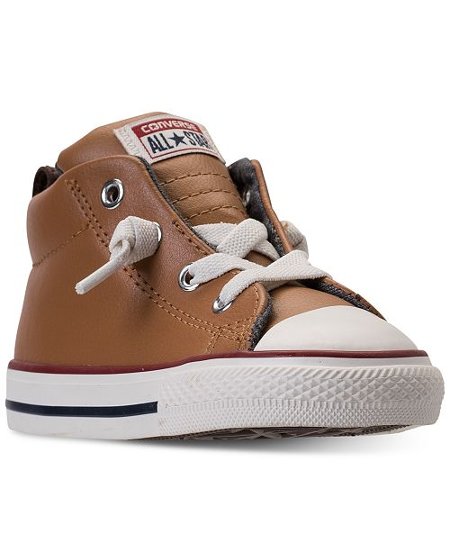 Converse Toddler Boys' Chuck Taylor Street Leather High Top