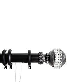 "Rod Desyne Gemstone Finial Decorative Traverse Rod with Rings 48""- 84"""