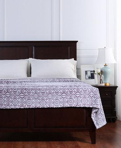 Berkshire VelvetLoft® Tipped Floral Plush Blanket