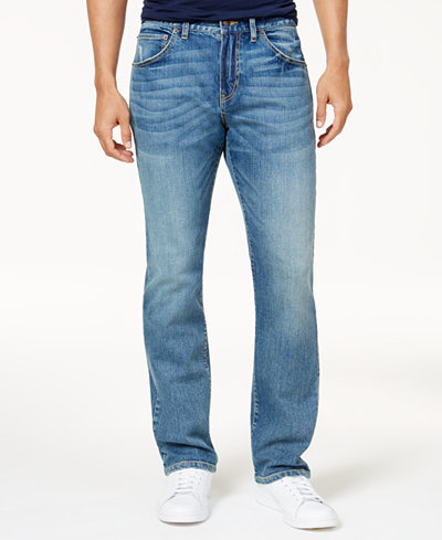 Club Room Men's Slim-Fit Stretch Light Wash Jeans, Created for Macy's