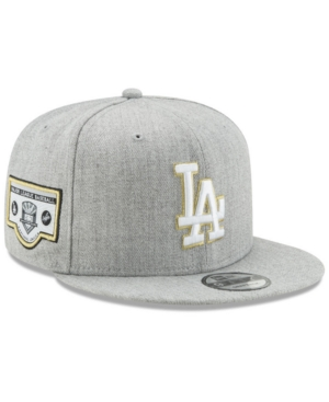 New Era Los Angeles Dodgers Heather Metallic Patch 9Fifty Snapback Cap In  Heather Gray Metallic f3a14ebd57f