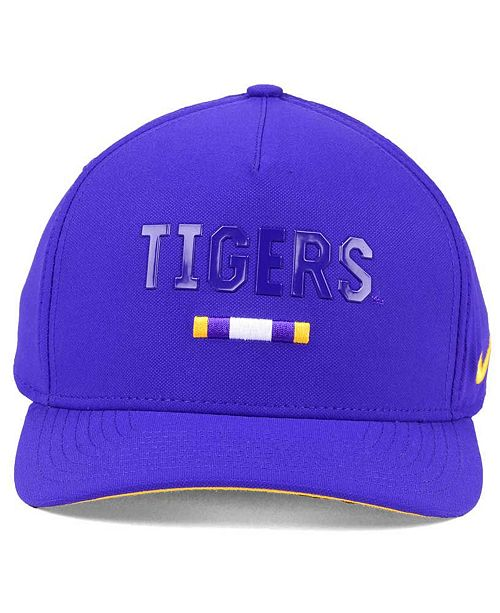 reputable site a403b 36505 ... czech nike lsu tigers summer seasonal swoosh flex cap sports fan shop  by lids men macys