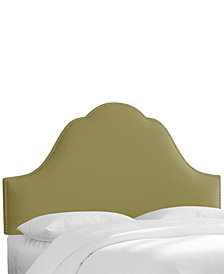 Jenny Nail Button Headboard - Twin, Quick Ship