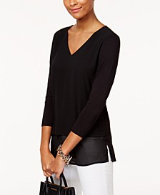 Layered-Look Top in Regular & Petite Sizes
