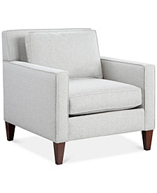 "CLOSEOUT! Kenford 34"" Fabric Armchair, Created for Macy's"
