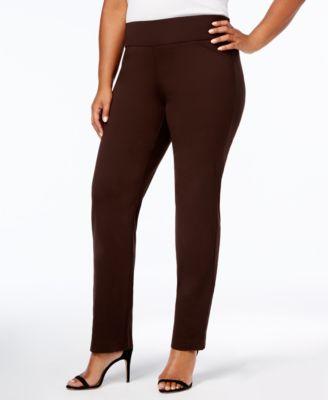 Plus size bootcut ponte pants